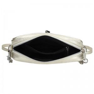 Trendy dámská kožená crossbody kabelka Facebag Nina - žlutá