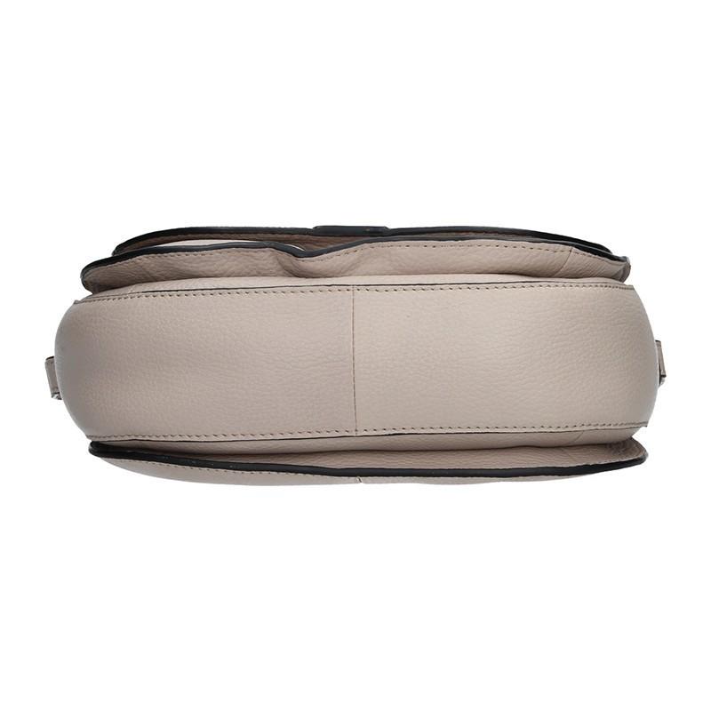 Dámská kožený kabelka Lagen Emily - krémová