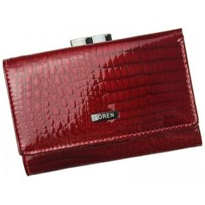 Dámská kožená peněženka Loren Aurora - červená