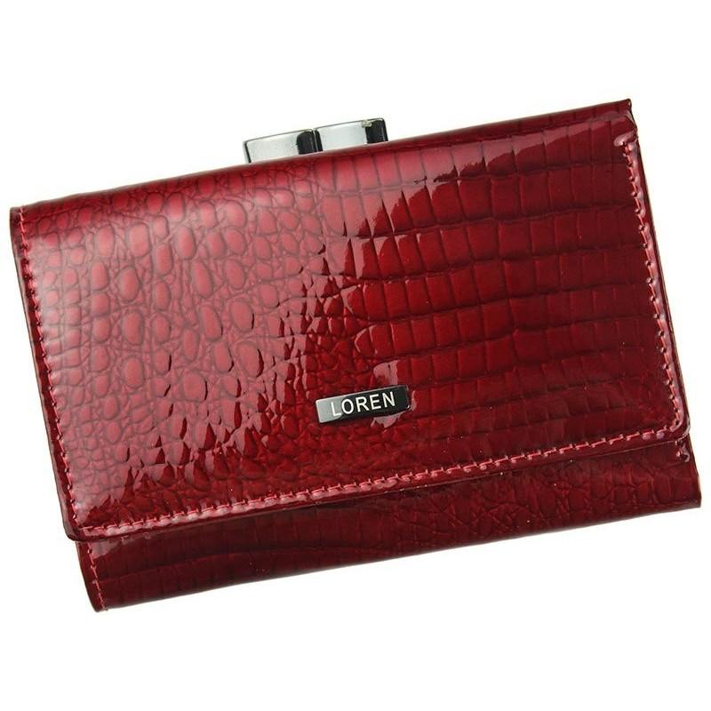 Dámská kožená peněženka Loren Brita - červená 1dc4fadb0e