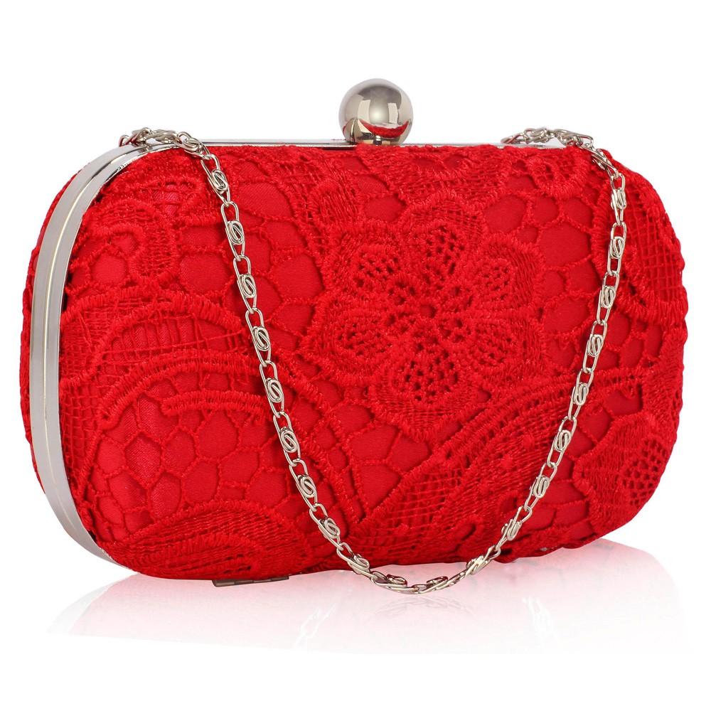 Dámské krajkové psaníčko LS Fashion Emily - červená