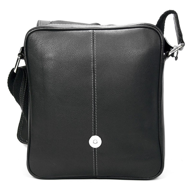 Pánská kožená taška přes rameno SendiDesign IG703 - černá