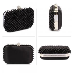 Dámské perličkové psaníčko LS Fashion Claire - černá