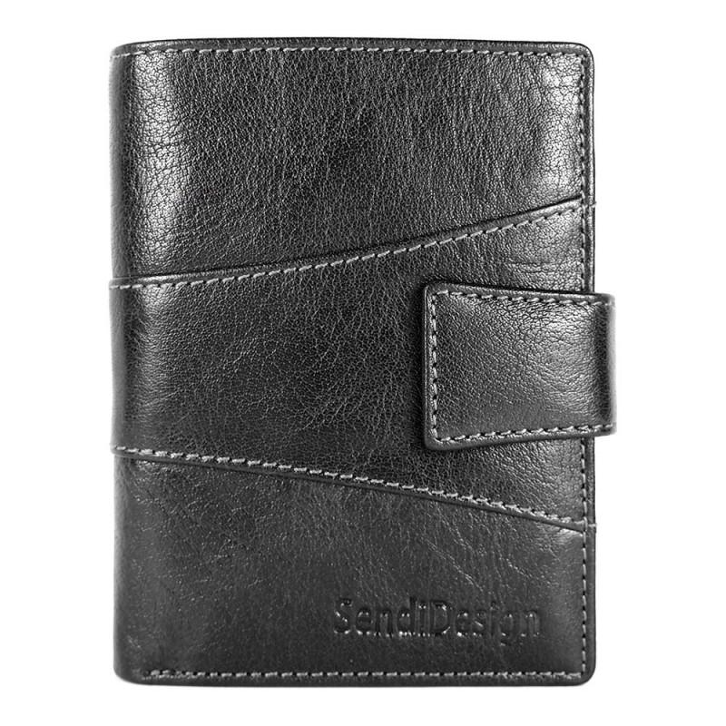 Pánská kožená peněženka SendiDesign 1041L - černá