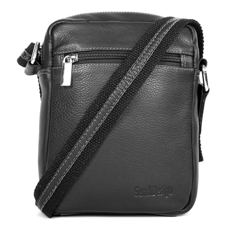 Pánská kožená taška na doklady SendiDesign IG714 - černá