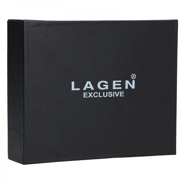 Pánská kožená peněženka Lagen Evron - hnědá