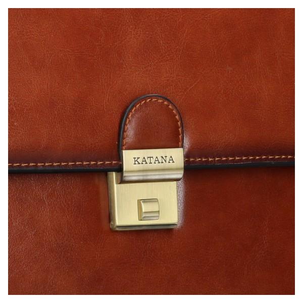 Pánská kožená aktovka Katana Paris - hnědá
