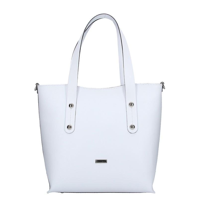 Dámská kožená kabelka Facebag Nina - bílá