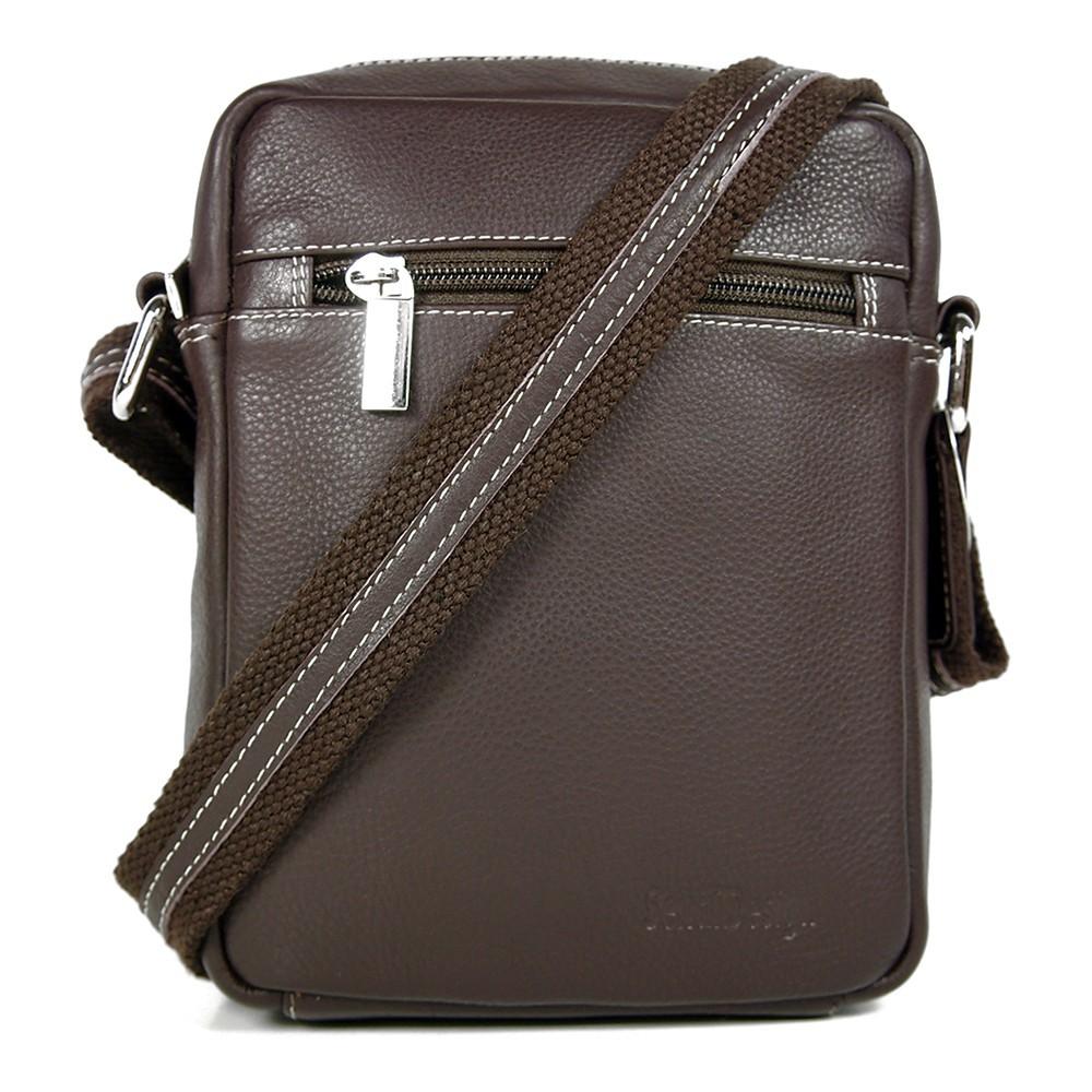 Pánská kožená taška na doklady SendiDesign IG714 - hnědá 1b54a4f0cd