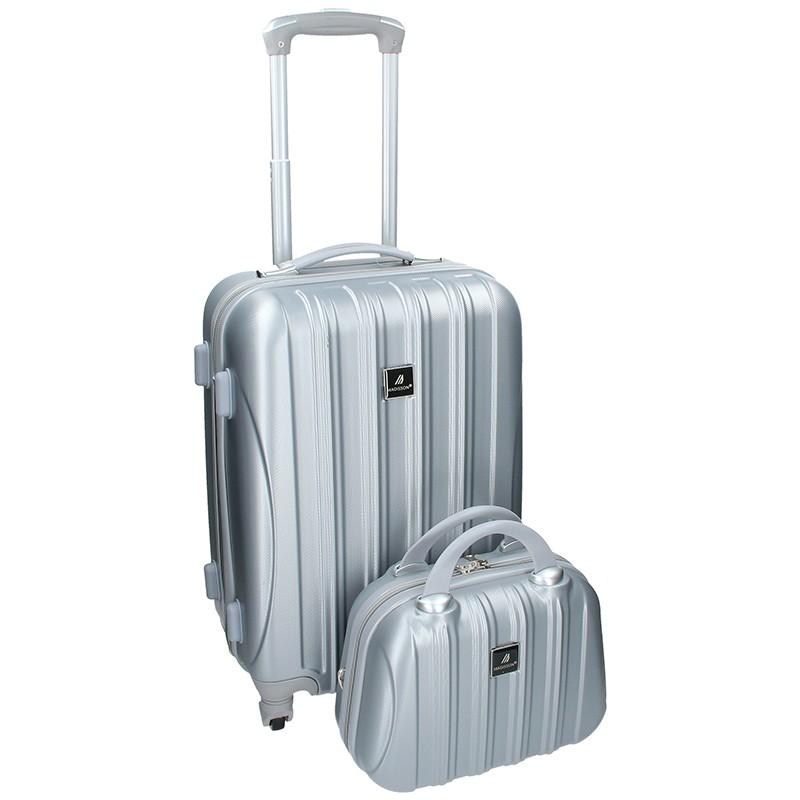 Sada dvou cestovních kufrů Madisson Travel - stříbrná 39l