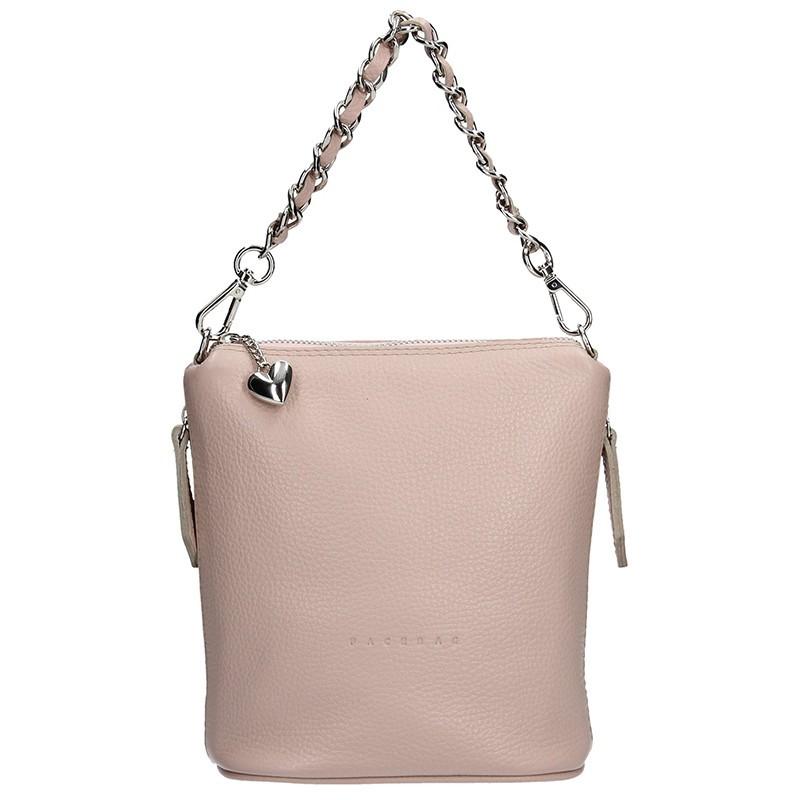 b0515ae371fd Dámská kožená kabelka Facebag Roberta - béžová