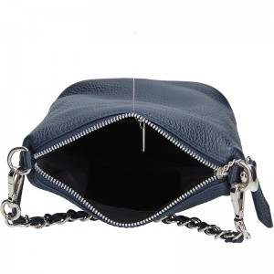 Dámská kožená kabelka Facebag Roberta - tmavě modrá