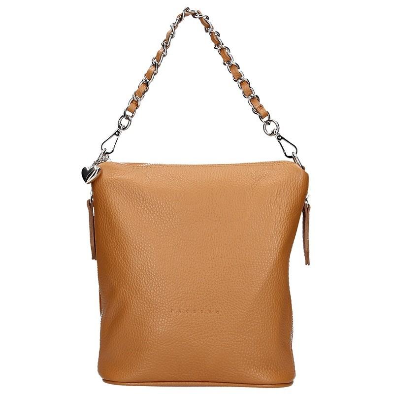 Dámská kožená kabelka Facebag Marta - stříbrná