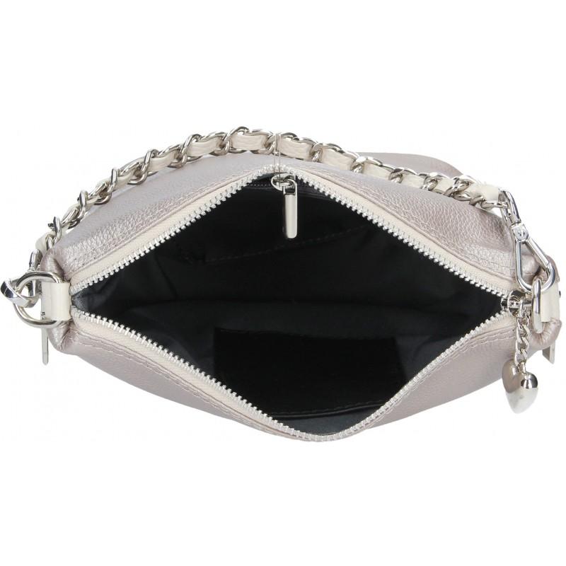 Dámská kožená kabelka Facebag Marta - světle hnědá