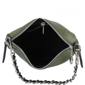 Dámská kožená kabelka Facebag Marta - stříbrno-šedá