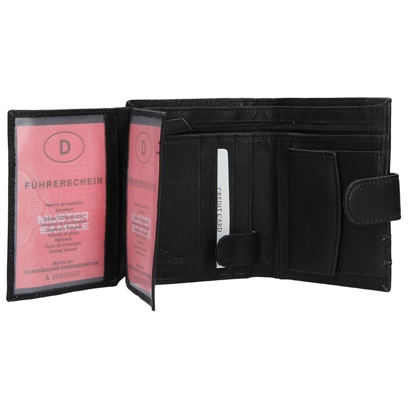Pánská kožená peněženka SendiDesign Trevor - černá