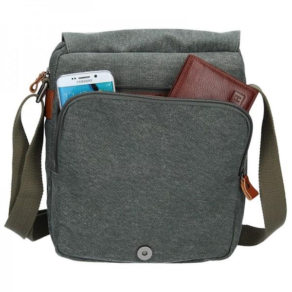 Pánská taška Katana Marco - šedo-zelená