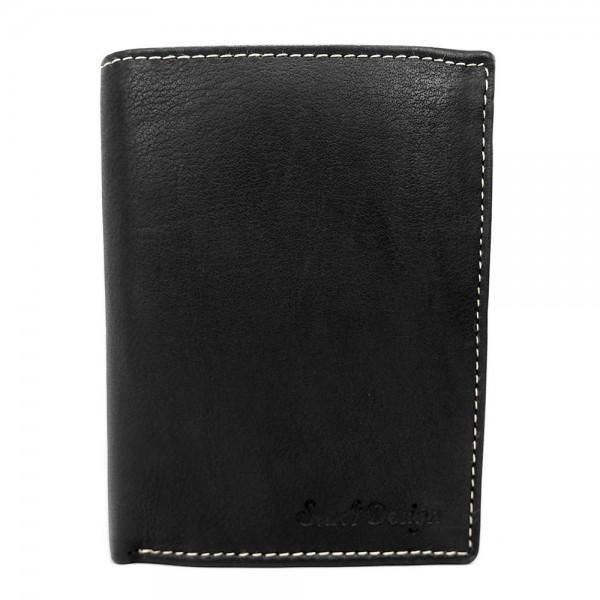 Pánská kožená peněženka SendiDesign Deren - černá