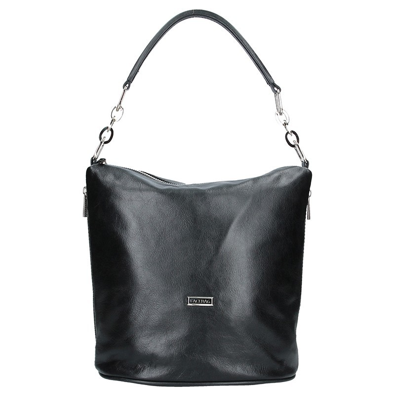 Dámská kožená kabelka Facebag Dana - černá