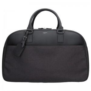 Elegantní cestovní taška Hexagona Ceasar - černo-šedá