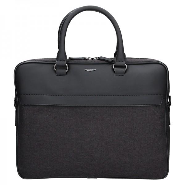 Pánská business taška přes rameno Hexagona Cloude - černo-šedá
