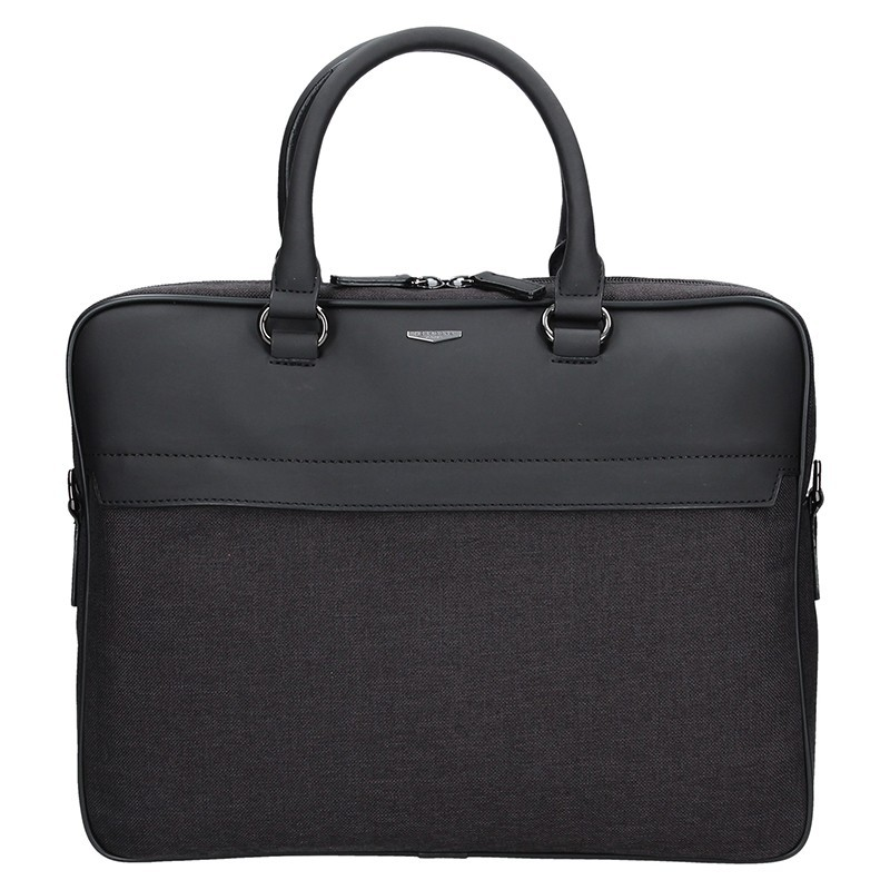 3e3651b70 Pánská business taška přes rameno Hexagona Cloude - černo-šedá