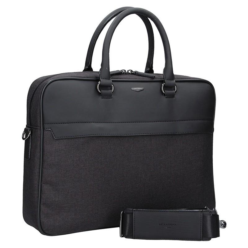 427bd9a75 Pánská business taška přes rameno Hexagona Phil - černo-šedá. Pánská  business taška přes rameno Hexagona Phil - černo-šedá