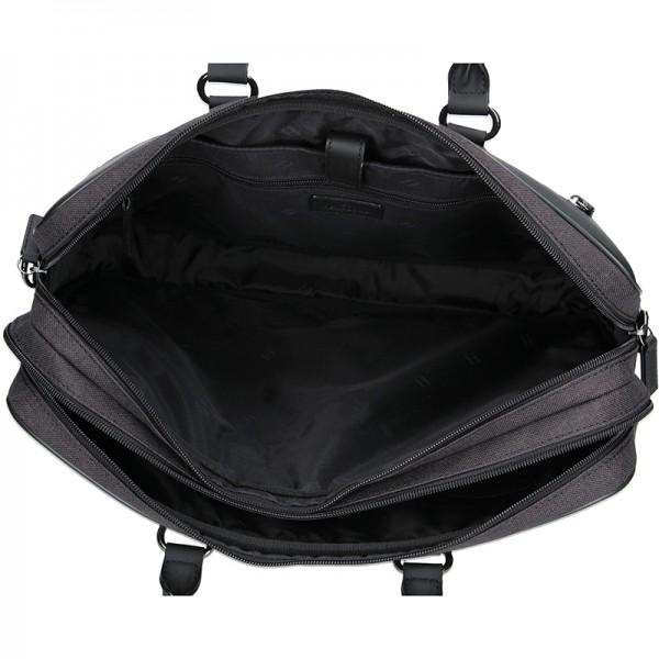 Pánská business taška přes rameno Hexagona Toledo - černo-šedá