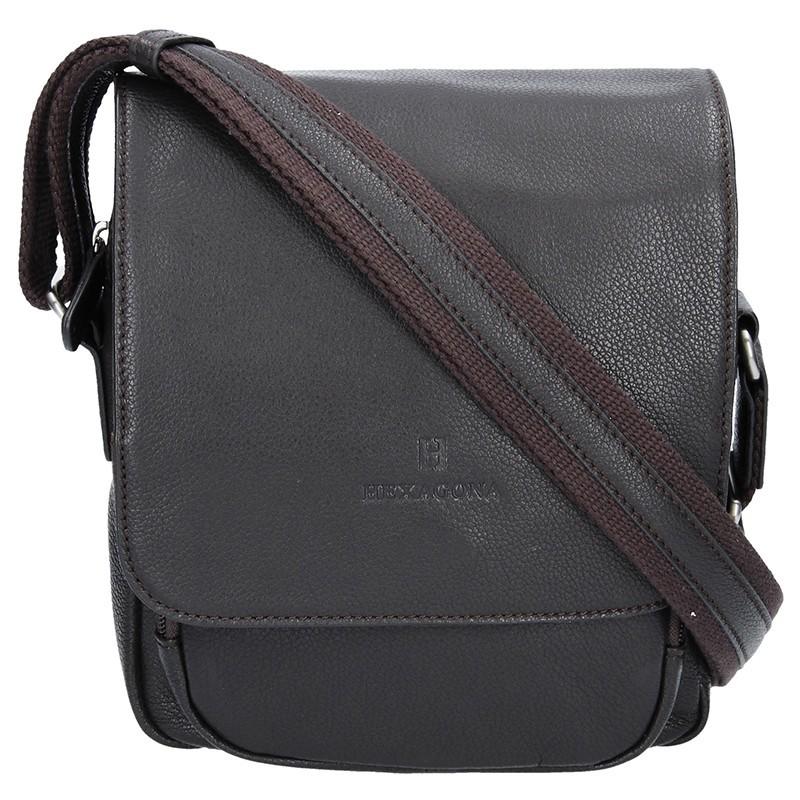 Pánská kožená taška na doklady Hexagona 463958 - hnědá bf13f5072e