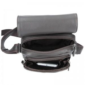 Pánská kožená taška na doklady Hexagona 463958 - hnědá