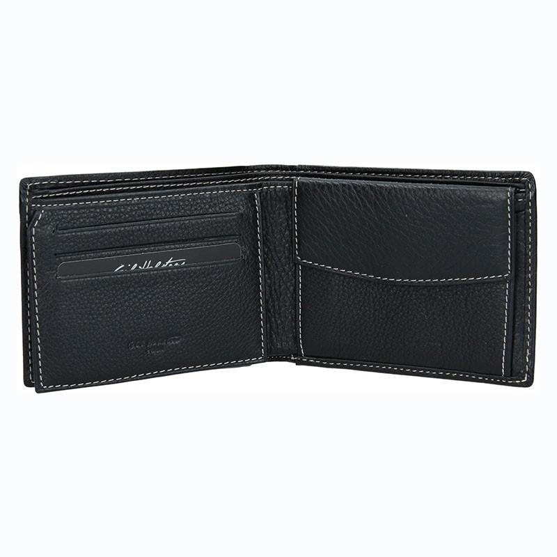 267b6af9f790 Pánská kožená peněženka Gil Holsters G317546 - černá. Pánská kožená  peněženka Gil Holsters G317546 - černá