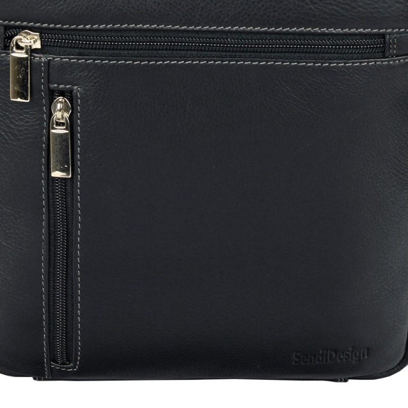 Pánská kožená taška na doklady SendiDesign 789 - černá