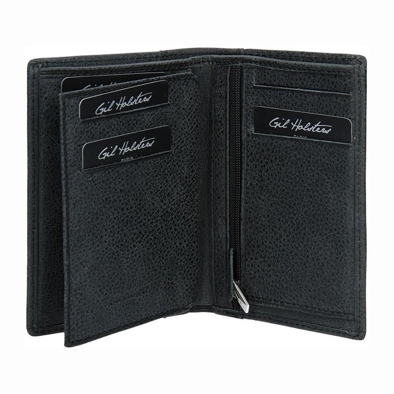 Pánská kožená peněženka Gil Holsters G667295 - černá