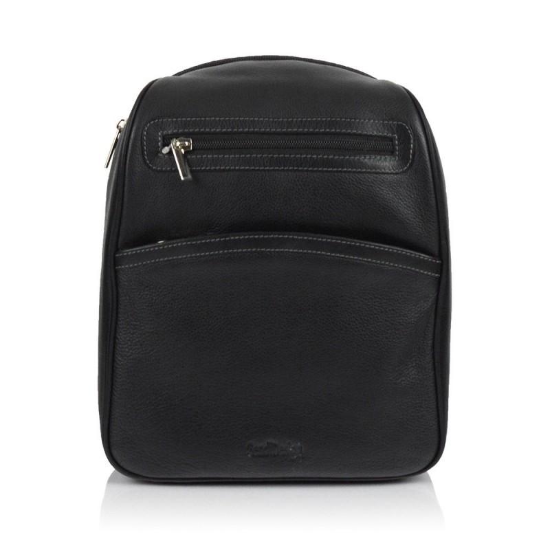 Dámský kožený batůžek SendiDesign 786 - černá