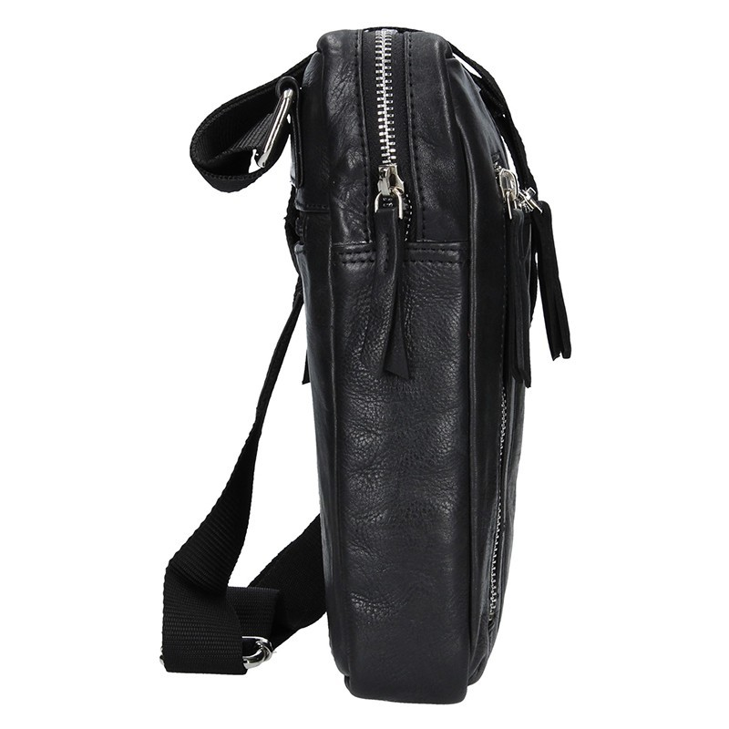 Pánská kožená taška přes rameno Lagen Boris - černá