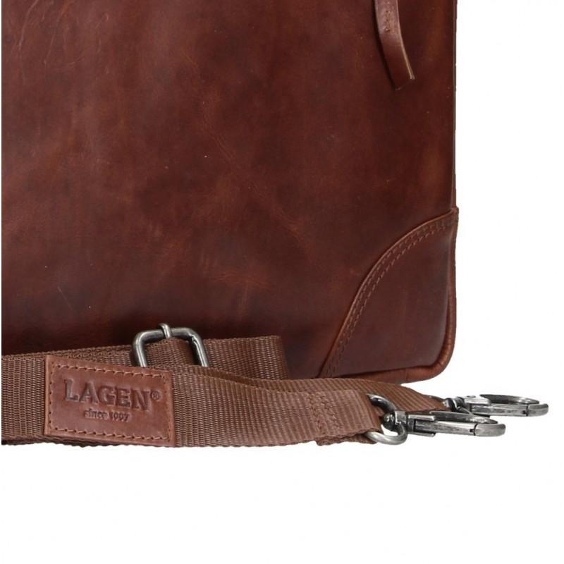 19e989bc70 Pánská kožená business taška Lagen Edgar - hnědá. Pánská ...