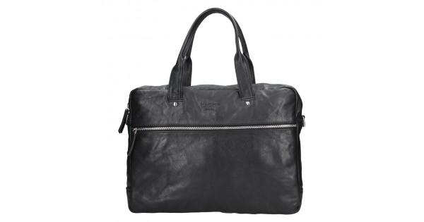 fb21e69241 Pánská kožená business taška Lagen Derick - černá