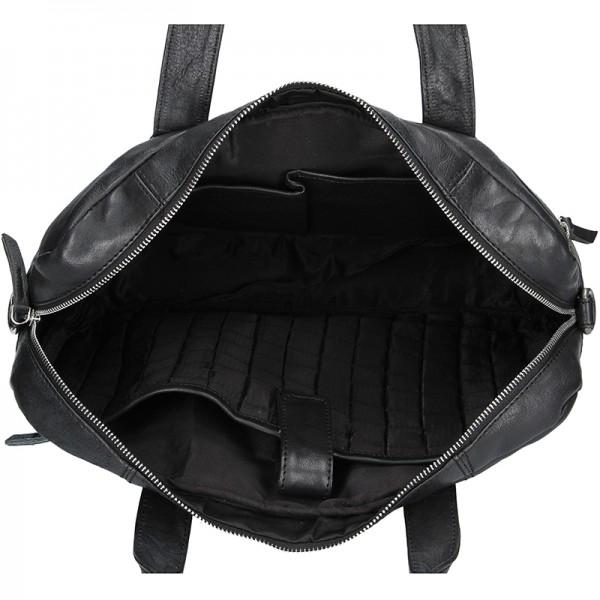 Pánská kožená business taška Lagen Derick - černá
