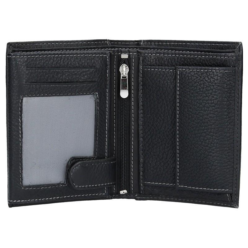 Pánská kožená peněženka SendiDesign N4- černá