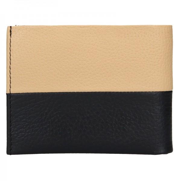 Pánská kožená peněženka Lagen Will - černo-béžová