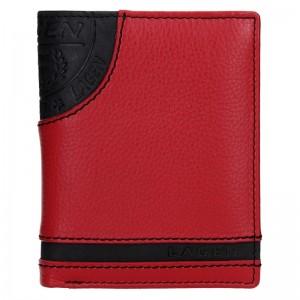 Pánská kožená peněženka Lagen Elliot - černo-červená