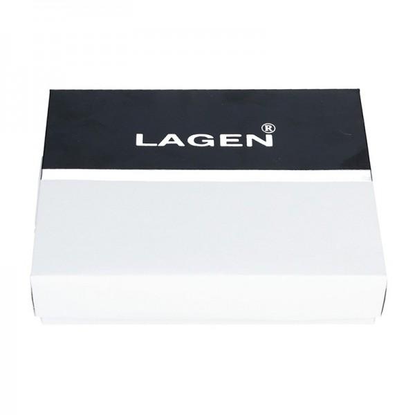 Pánské kožené pouzdro na doklady Lagen Sebastian - světle hnědá