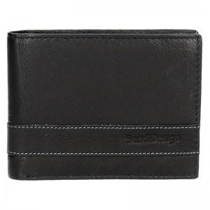 Pánská kožená peněženka SendiDesign 48 - černá