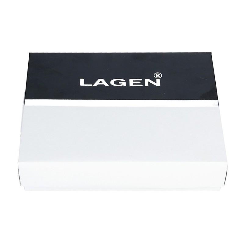 Pánské kožené pouzdro na doklady Lagen Sebastian - tmavě hnědá