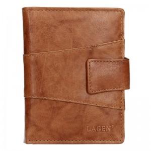 Pánská kožená peněženka Lagen Conor - koňak