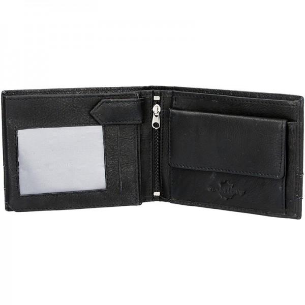 Panská kožená peněženka SendiDesign 48 - černá