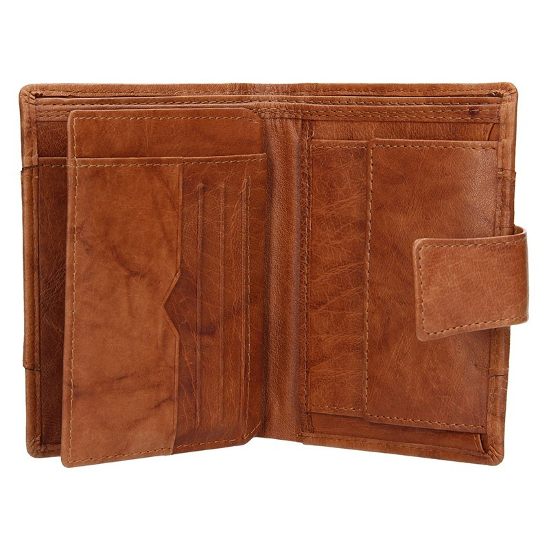 Pánská kožená peněženka Lagen Brandon - černo-červená