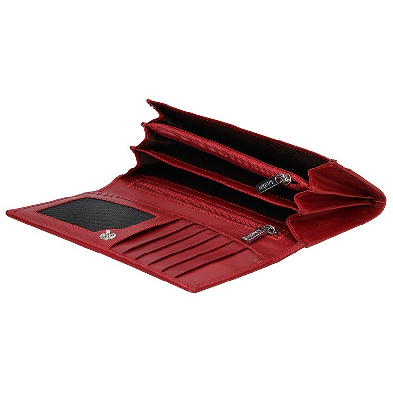 Dámská kožená peněženka Lagen Denisse - červená