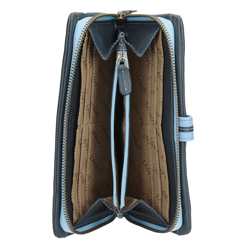 Dámská kožená peněženka Lagen Maria - fialová