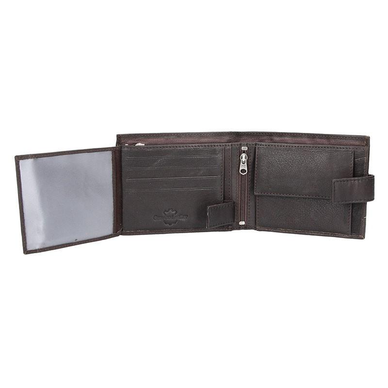 Pánská kožená peněženka SendiDesign 43 - hnědá